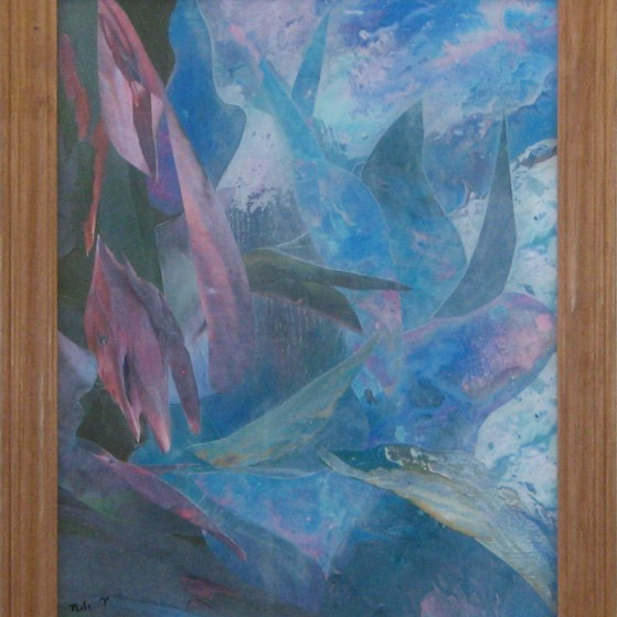 Under water effects. 11 by 14 inch  Canvas panel