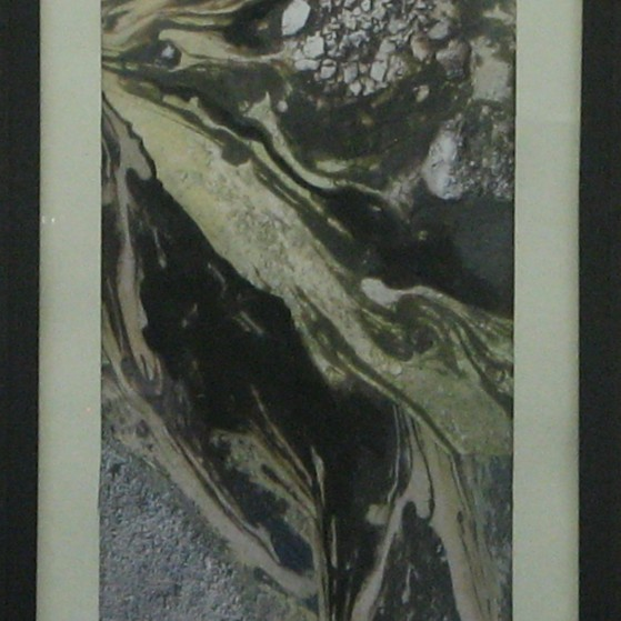 Erosion. 10 by 18 inch  with frame
