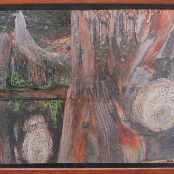 Adorable trees. 16 by 20 inch  Canvas panel