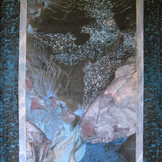 Currents in the river, 16 by 20 inch.  Canvas panel