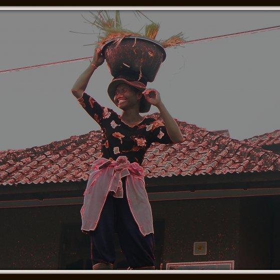 A rice field worker in Bali