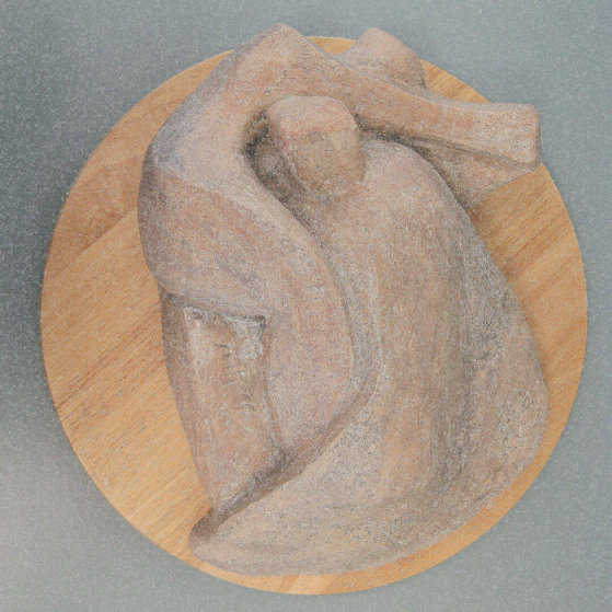 Landscape figures.Made of clay.There is an option to cast in Bronze.5 H by 15 inch L.