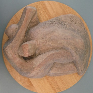 Desert landscape figures.Made of clay.There is an option to cast in Bronze.5 H by 15 inch L.