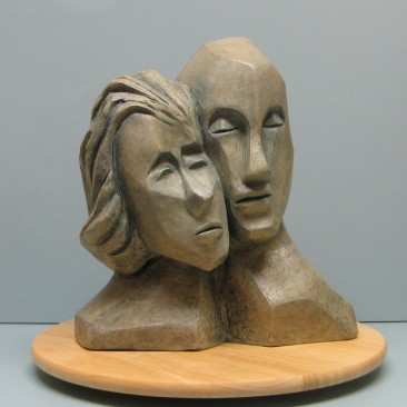 Togetherness.Made of Terracotta.Bronze cast is optional.14 H 12.5 W 6.5 D inch