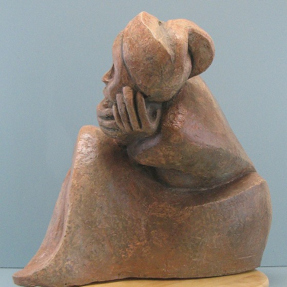 Embarrassed.Bronze.14.5 H by 18 W by 7  inch D. 18,000$