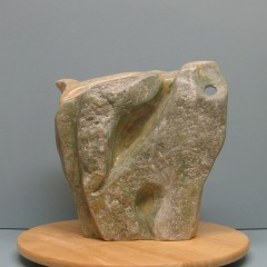 Abstraction of animals.Made of Alabaster stone.12 H by 30.5 inch perimeter.9,000$
