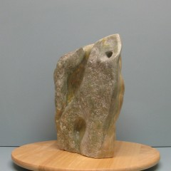 Abstraction of animals.Made of Alabaster stone.12 H by 30.5 inch perimeter. 9,000$