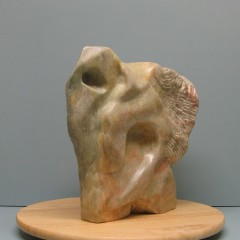 Abstraction of animals.Made of Alabaster stone.12 H by 30.5 inch perimeter .9,000$