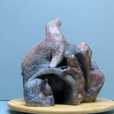 Galapagos animals.Made of  clay.13.5 H by 37.5 inch perimeter.10,000$