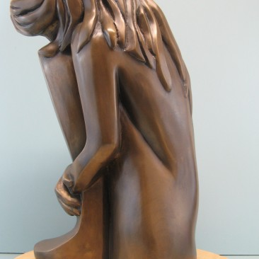 Self comfort.Bronze.20.5 H by 8 W by 10.5 inch D.