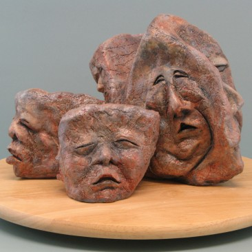 Sleep like a rock (Sleepy).Made of clay.There is an option to cast in Bronze.8 H by 34 inch perimeter