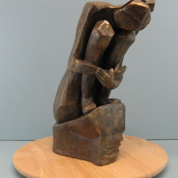 Introvert.Made of Terracotta.15.5 H by 23.5 inch perimeter