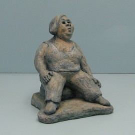 Hedonistic.Made of clay. 9 H by 23 inch perimeter