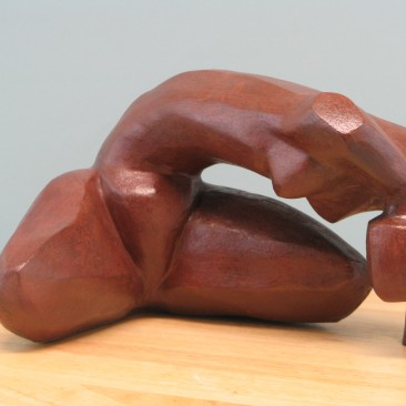 Effort.Made of Terracotta. Bronze cast is optional. 6 H by 9 W by 10.5 inch  D