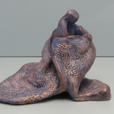 Mother's hug.Ceramic. 8 H by 26 inch perimeter