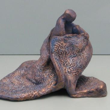 Mother's hug.Ceramic. 8 H by 26 inch perimeter