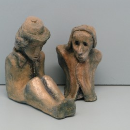 Homeless.Made of clay..6 inch  in High