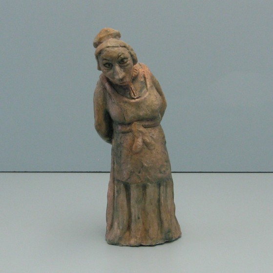 Suspicious gossiper. Bronze.10 H by 3.5 W by 3  inch D.  10,000$
