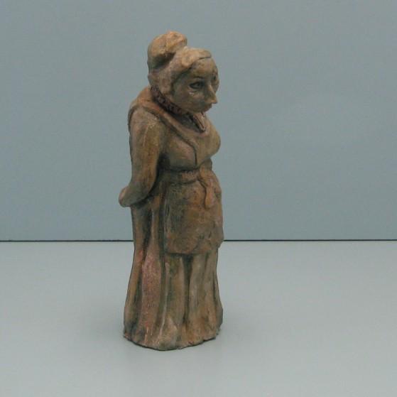 Suspicious gossiper. Bronze.10 H by 3.5 W by 3  inch D.