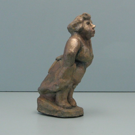 Decisive gossipers.   Bronze.9 H by 2.5 W by 4.5 inch D.