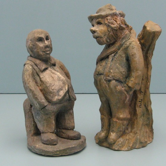 The loan shark and  the forest keeper.Bronze
