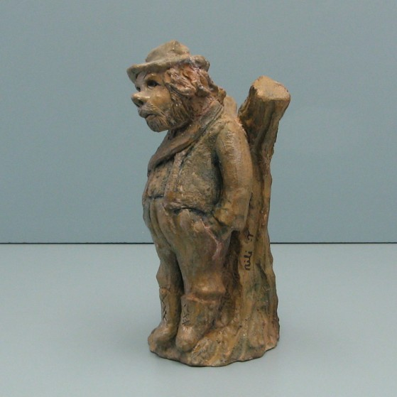 The forest keeper.Bronze.Puzzled.Bronze. 10 H by 3.5 W by 4.5 inch D .