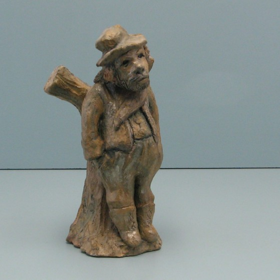 The forest keeper.Bronze.Puzzled.Bronze. 10 H by 3.5 W by 4.5 inch D