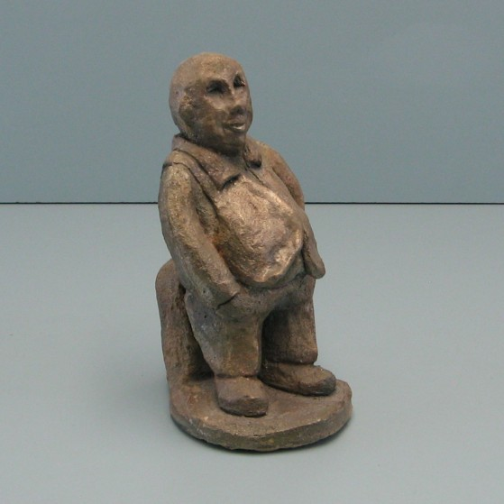 The loan shark.Bronze. 8 H by 4 W by 4.5 inch  D.