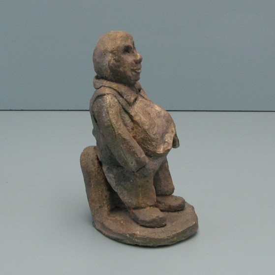 The loan shark.Bronze. 8 H by 4 W by 4.5 inch D