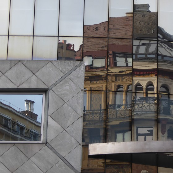 Vienna,reflection of buildings in the windows no.1