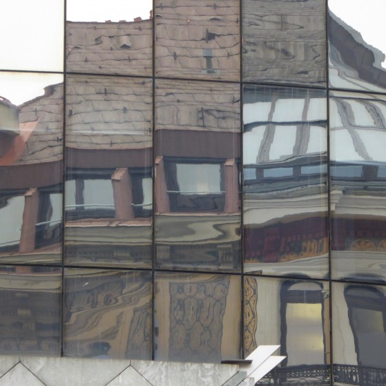 Vienna,reflection of buildings in the windows no.11