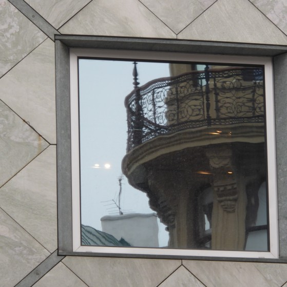 Vienna,reflection of buildings in the windows no.13