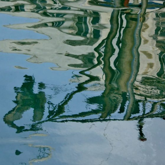 Reflections in  Jaffa  at the marina