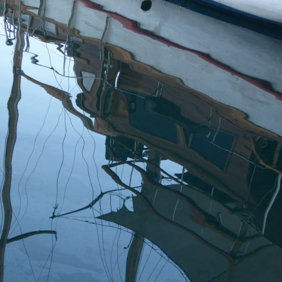 Reflections in Eilat  at the marina